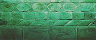 Matt green enamelled brick