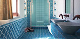 Exotic influences in a modern bathroom