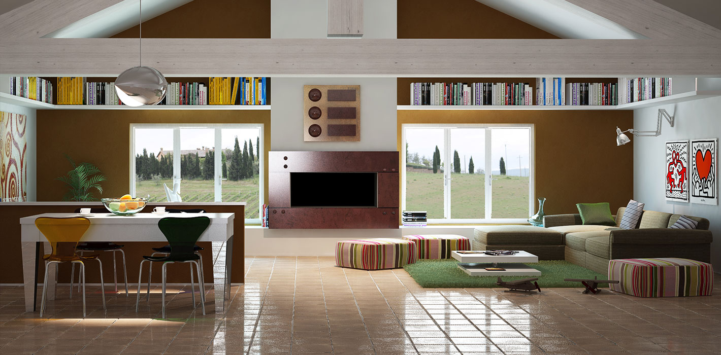 Soggiorno Pavimento Cotto ~ Idee per il design della casa